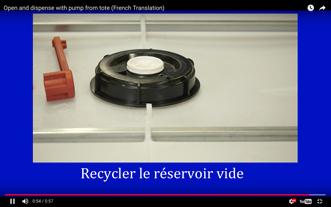 Réservoir Portatif en Plastique: Comment Ouvrir le Réservoir et Distribuer Son Contenu à l'Aide d'Une Pompe