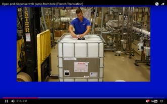 Fût en Plastique: Comment Ouvriro le Fût et Distribuer Son Contenu à l'Aide d'Une Pompe