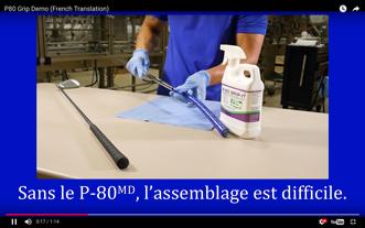 Comment Assembler Des Poignées Avec le Lubrifiant à Caoutchouc Temporaire P-80®