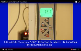Démontrer L'effcacité du Lubrifiant à Caoutchouc Temporaire en Émulsion P-80®