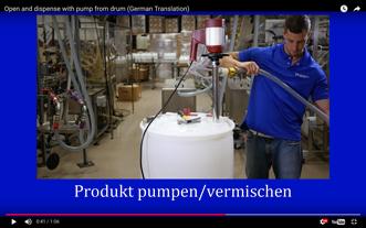 Plastiktonne: Öffnung und Dosierung Mit Pumpe