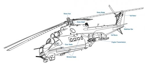 Helicopter BW Diagram